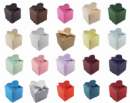 Heart Top Wedding Favour Boxes - Different Colours- SC10